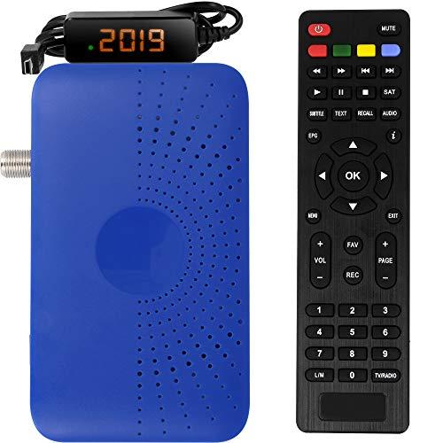 hd-line HD-90 Mini Satellitare Ricevitore - DVB S/S2 Digitale Satelliten Receiver Full HD 1080 P HDMI 2 x USB 2.0 HDTV [ Ricevitore Satellitare Digitale ] ️{Astra Hotbird Türksat }️