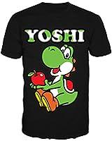 Nintendo T-Shirt -XL- Yoshi, schwarz