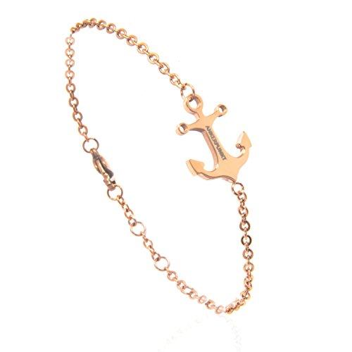 ANKERPUNKT Royal Destiny Anker Armband Armkette für Damen Frauen rosegold 16 17 18 19 cm Made in Germany