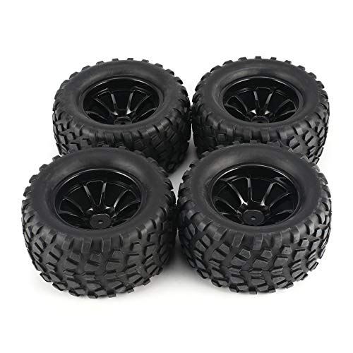 fITtprintse 4Pcs 130mm 10 Contour Dump Fetal Flower off-Road Wheel Rim e Pneumatici per 1/10 Monster Truck Racing RC Accessori Auto