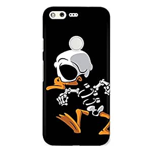 Crazyink Duck Skelly Premium 3D Back Cover For Google Pixel Xl