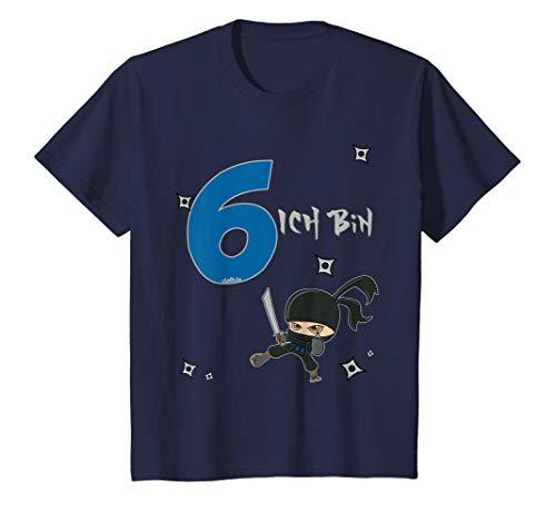 Kinder Geburtstagsshirt 6 Jahre Ninja Junge Ich bin 6