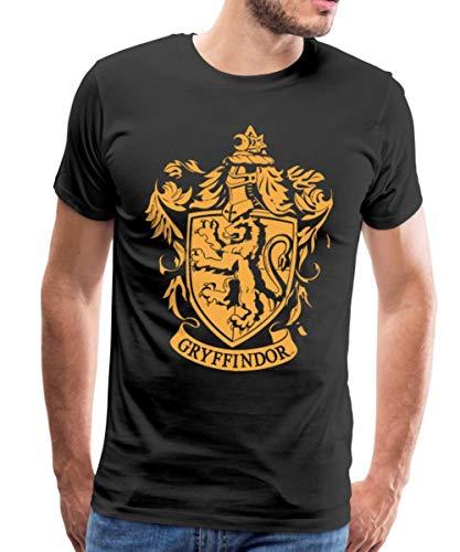 Harry Potter Gryffindor Wappen Männer Premium T-Shirt, 4XL, Schwarz