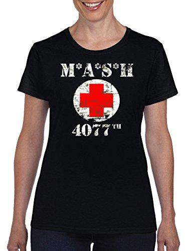 TSP Mash 4077 Damen T-Shirt M Schwarz (Riddler Kostüm Frauen)