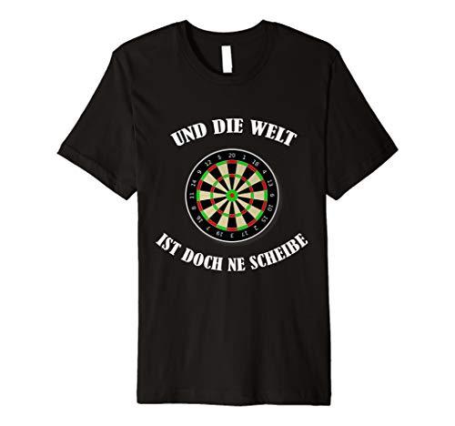 Dart Spieler t-shirt und die Welt ist doch ne Scheibe