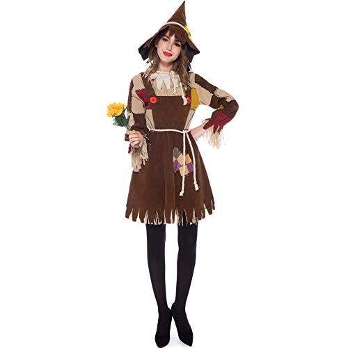 XSH Halloween Kostüm Cosplay - Eine Frau Vogelscheuche Kostüm