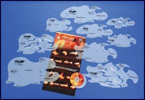 Artool Freehand Airbrush Templates, True Fire Template Set by IWATA-MEDEA Inc