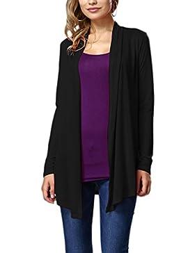 Le Donne Hanky Orlo Irregolare Fronte Aperto A Maniche Lunghe Cardigan Outwear