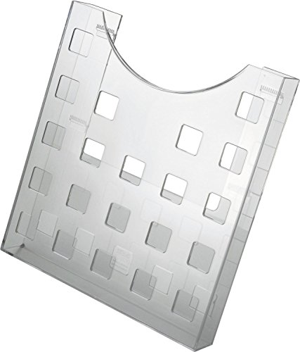 Helit H6102502 - Einzel-Prospekttasche für DIN A4, Hochformat, Lochdekor, glasklar
