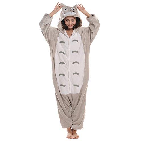 inter langarm Totoro Stil einteiler flanell Onesie Pyjama,XL ()