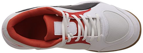 Puma Veloz Indoor II, Scarpe fitness Unisex – Adulto White - Weiß (white-black-puma red 03)