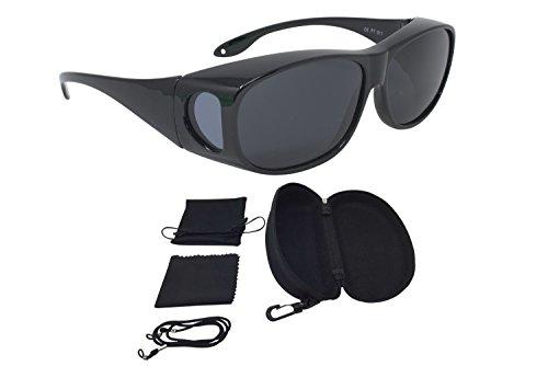 Sonnenüberbrille Überzieh Sonnenbrille CLASSIC EDITION polarisiert UV 400 (Schwarz)