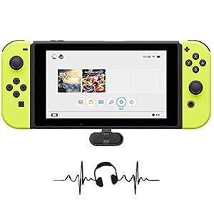 Kabelloser Bluetooth-Adapter für Nintendo Switch, GULIKIT Route + Kabelloser Audio-Kopfhörer-Lautsprechersender USB-Typ-C-Adapter Sender und Transceiver für Nintendo Switch