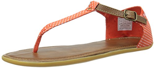 Keds Frauen WF54779 Split Toe Leger Flache Sandalen Orange Groesse 6 US/37 EU