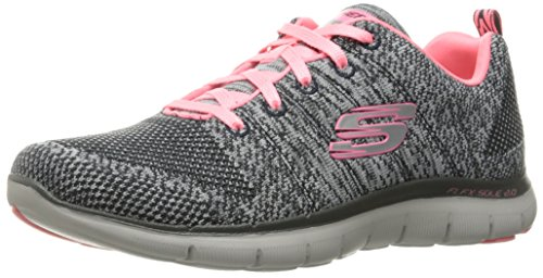 Skechers Women's Flex Appeal 2.0-High Energy Multisport Outdoor Shoes, Grey (Charcoal/Coral), 5...