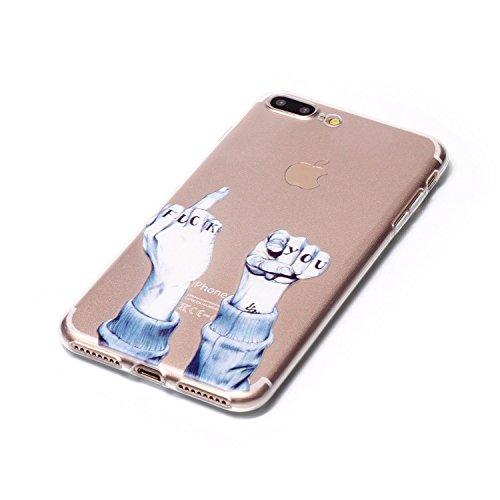 iPhone 7 Plus 5,5 Coque, Voguecase TPU avec Absorption de Choc, Etui Silicone Souple, Légère / Ajustement Parfait Coque Shell Housse Cover pour Apple iPhone 7 Plus 5,5 (plume rouge 02)+ Gratuit stylet doigt 01