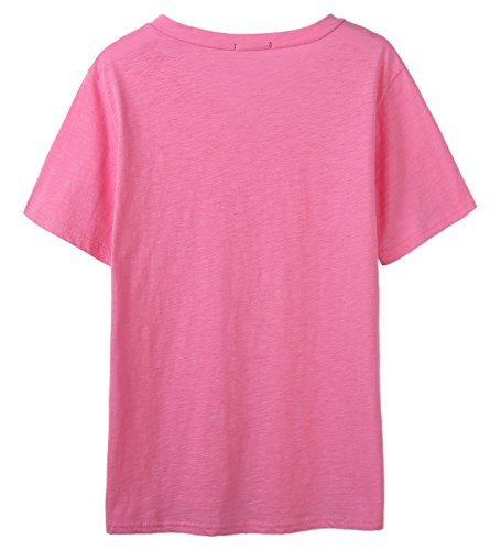 So'each Women's Psychology Major Graphic V-Neck Tee T-shirt Ladies Casual Top Rosa
