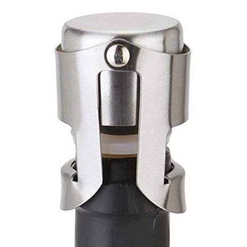 shuaishuang573 Edelstahl Champagne Sekt Spirituosen-Flaschen-Stopper Saver Sealer