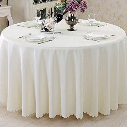 Tischdecke Restaurant Runde Stoff europäischen, nordischen natürlichen minimalistischen Hotel Baumwolle verdickt (Farbe: Beige, Größe: Kreis 200cm)