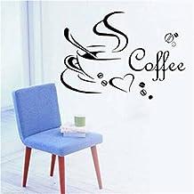 linkings adhesivo taza de café Corazón para extraíble PVC adhesivo decorativo para pared decoración del hogar
