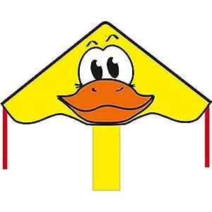 Invento 102142–Ecoline simple Flyer Ducky Niños Dragón einleiner, a partir de 5años, 42x 85cm y 1.5m Dragón Cola Ripstop de poliéster 2–5Beaufort