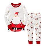 46cebd4395 Pijamas de Navidad para niños pequeños para niños pequeños Papá Noel Acción  de Gracias Ropa de