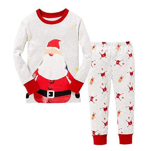 Little Boys Christmas Schlafanzüge Weihnachtsmann Nachtwäsche Pyjamas Langarm Pjs Set für Kinder Kleinkind 1-2 Jahre 2T