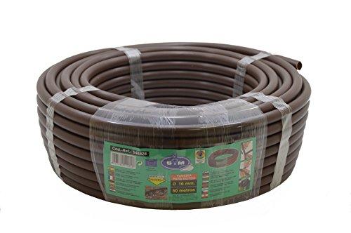 S&M 544828 – Tuyau pour arrosage en goutte à goutte, 16 mm x 50 m, couleur marron