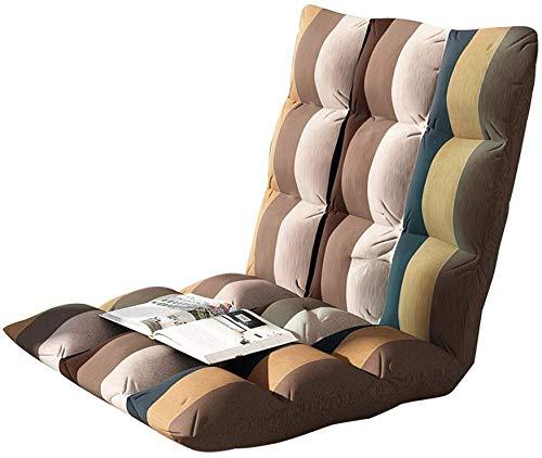 bh+ Boden Stuhl, Lazy Couch Tatami Klappbett Rückenlehne Balkon Fenster Stuhl, Zum Lesen von Zeitungen/Meditation, Gestreifte Modelle (Größe: Groß) -