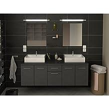 gnrique meuble de salle de bain double vasque 150 cm gris olivia l 150 x l