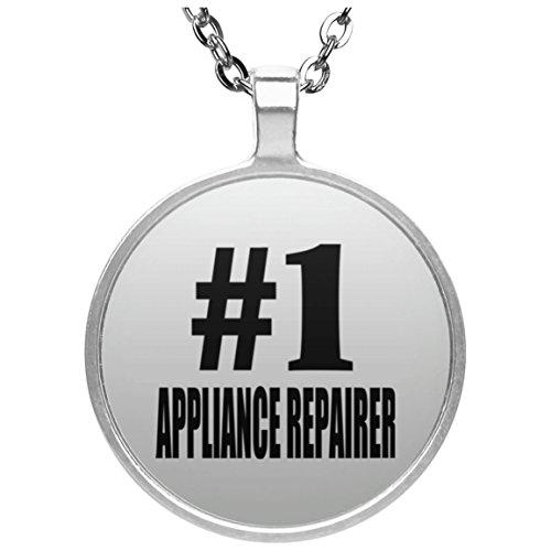 Designsify Number One # 1Appliance-Reparierer–Runde Halskette, Silber Vergoldet Anhänger, Beste Geschenk für Geburtstag, Hochzeit, Jahrestag, Neues Jahr, Valentinstag, Ostern, Muttertag/Vatertag