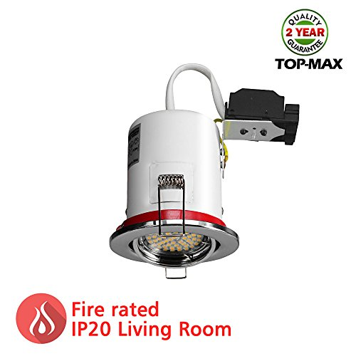 top-max-pack-of-1-fire-rated-led-recessed-ceiling-light-gu10-downlight-spotlight-mains-240v-tilt-ver
