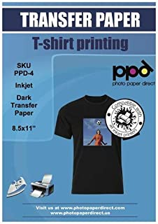 50/A4/Blatt Laser /& Kopierer bedruckbar T-Shirt und Stoff Transferpapier f/ür helle Textilien