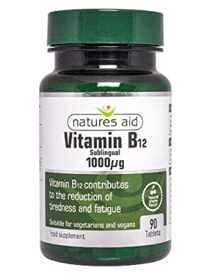 Natures Aid Vitamin B12 Tablets 1000ug Pack of 90 from NAVX2