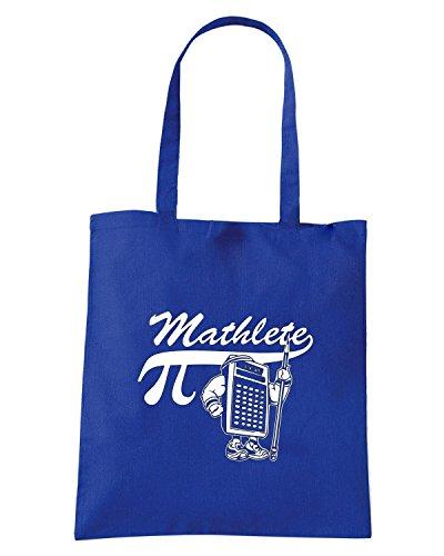 T-Shirtshock - Borsa Shopping FUN0076 04 08 2013 Mathlete T SHIRT det Blu Royal