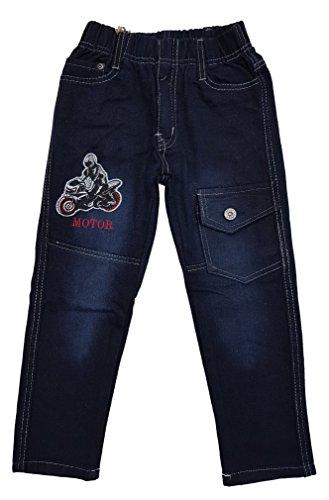 Bequeme Jeans mit rundum Gummizug in schwarz, Gr. 86/92, J59.2e