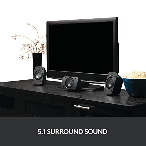 Logitech Z906 Stereo Speakers 3D 5.1 Dolby Surround Sound, THX, 1000 W, Ideal For TV and Living Room Img 1 Zoom