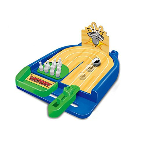 Owfeel Mini Bowling Baloncesto Baloncesto Disparo de sobremesa Playset Juego de mesa para niños Niños Niñas Deportes de interior o al aire libre (Bolos)