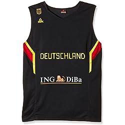 Peak Sport Europe adultos Alemania Camiseta de baloncesto EM 2013, 20023 Blanco blanco Talla:large