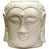 ShopMeFast Budhha Face Shape Handcrafted Ceramic Pots Ceramic Planter For Indoor Plants/Planters,Home Decor,Garden Decor,Office Decor,Decorative Succulent Pot (Color: White)(L:15 Cm, W:15 Cm, H:17 Cm)