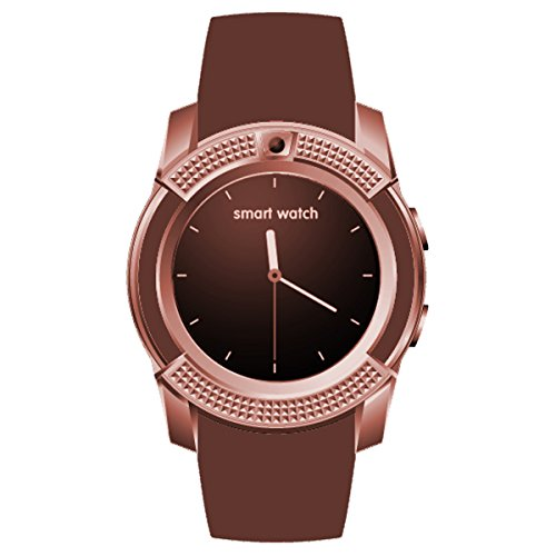 HealthMax HT V8 Brown Smartwatch Compatible With Gionee P1 Mobiles
