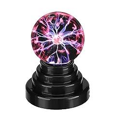 Idea Regalo - Plasma Ball Plasma Fulmini e Scariche Elettriche Luce Magic USB Plasma Ball Lampo della Sfera Magica Luce Sfera Lampada al Plasma USB della Luce