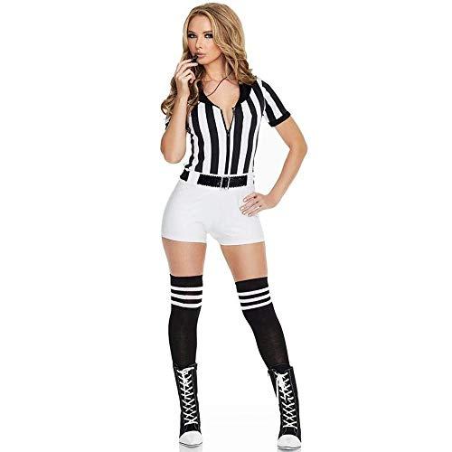 Fashion-Cos1 Halloween Performance Kostüm Tanzkostüm für Cheerleader Teamgymnastik (Color : Black)