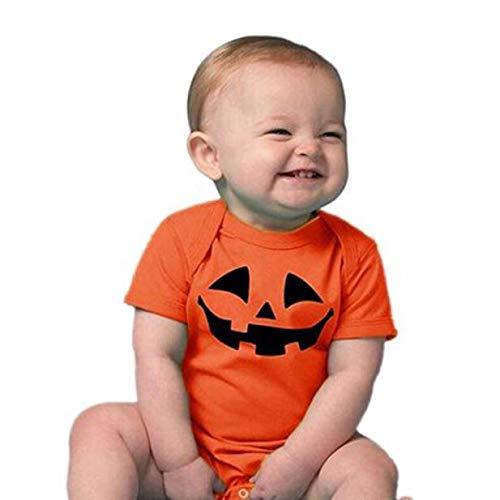 Blingko Onesies Halloween Karneval Säugling Baby Mädchen Junge Halloween Kurzarm Strampler Overall Teddy Trikot 70 Säuglings Halloween - Säuglings Ghost Kostüm