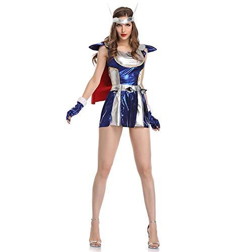 Kostüm Krieger's Freundin - YyiHan Halloween Kostüm, The Avengers Raytheon weibliche Krieger Superfrau Leistung Kleidung Cosplay Make-up Halloween-Parteikostüm Bühnenaufführung Kleidung