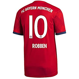 adidas FC Bayern München Trikot Home 2018/2019 Herren (Robben, S - 44/46)