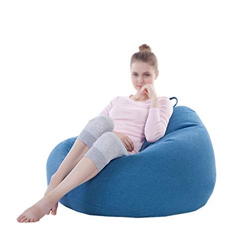 TLTLLRSF Faule Couch Sitzsack, Einzelner Stoff Casual Sitzsack Big Bean Bag (Farbe : Blau) (Bean-bag-blau)