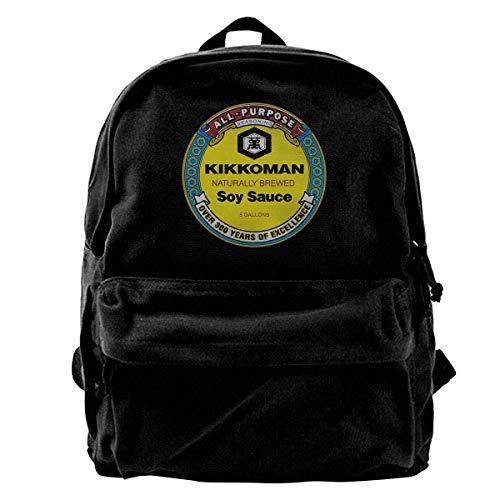 NJIASGFUI Rucksack aus Segeltuch von Kikkoman Sojasauce Rucksack für Fitnessstudio, Wandern, Laptop, Schultertasche für Männer und Frauen