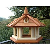 Exclusive Wooden Bird Table House, Feeder