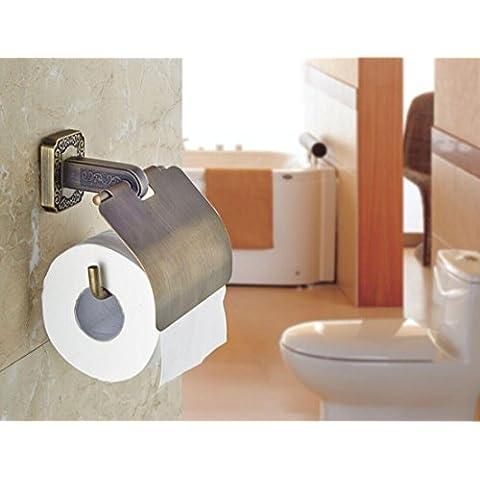 YanCui@ Porta carta igienica Rame carta igienica titolare carta igienica casella igienica holder